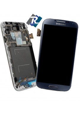 DISPLAY LCD TOUCH SCREEN per SAMSUNG GALAXY S4 I9505 I9500 DARK BLU CON FRAME
