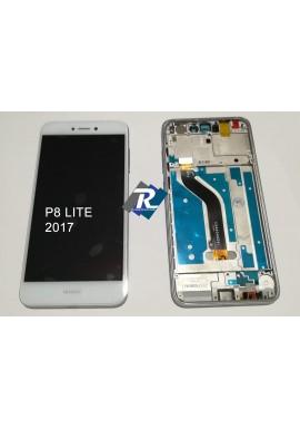 TOUCH LCD DISPLAY Huawei P8 Lite 2017 Bianco PRA-LA1 PRA-LX1 PRA-LX3 + FRAME