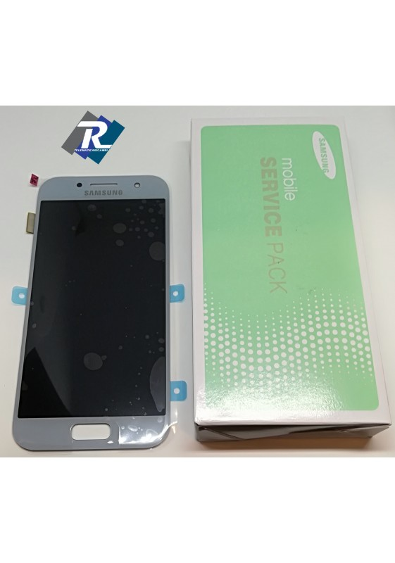 DISPLAY LCD TOUCH SCREEN PER SAMSUNG GALAXY A3 2017 SM-A320F BLUE SILVER
