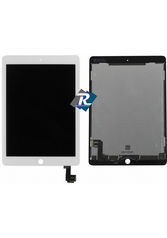TOUCH SCREEN VETRO LCD DISPLAY APPLE iPad Air 2 Bianco A1566 A1567 (iPad 6)