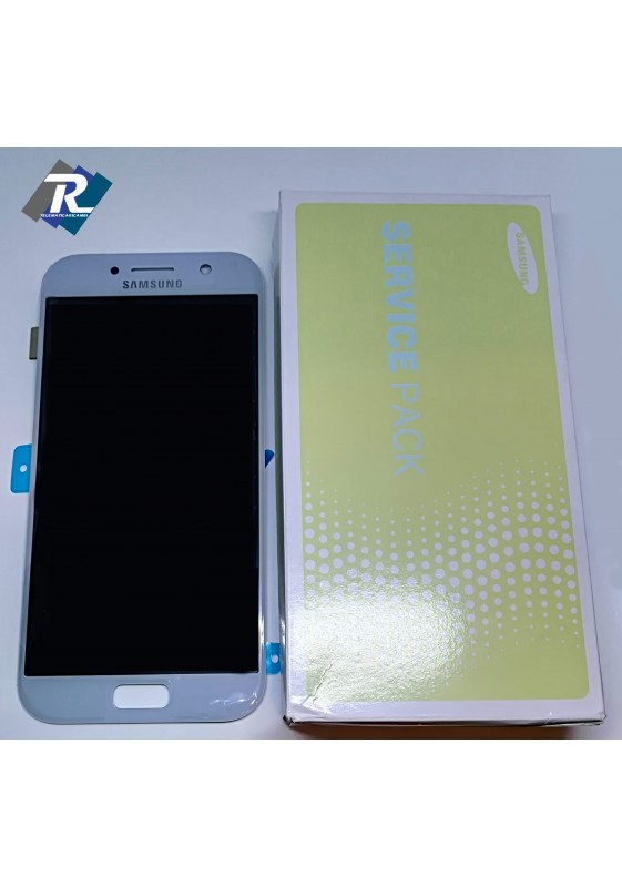 DISPLAY LCD TOUCH SCREEN PER SAMSUNG GALAXY A5 2017 SM-A520F BLUE SILVER
