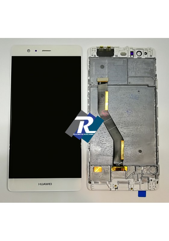 TOUCH LCD DISPLAY Huawei P9 PLUS Bianco VIE-L09 + FRAME