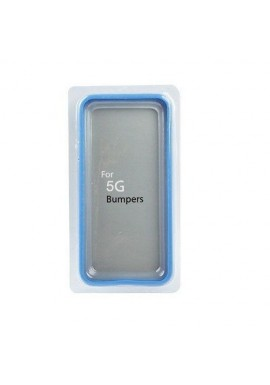 Custodia antiurto tasti in metallo per Iphone 5g Azzurra