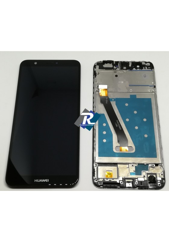 TOUCH SCREEN LCD DISPLAY Huawei P smart FIG-LX1 FIG-LA1 FIG-LX2 Nero + Frame - Telematicaricambi