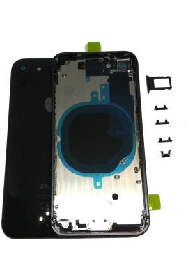 BACK COVER SCOCCA POSTERIORE TELAIO IPHONE 8 8G Grigio siderale Nero