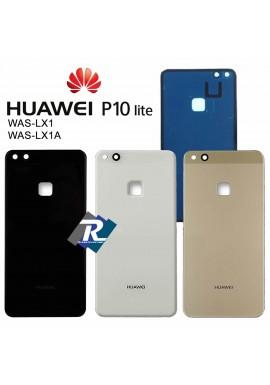 COPRI BATTERIA SCOCCA POSTERIORE VETRO Huawei P10 Lite WAS-LX1 - WAS-LX1A NERO