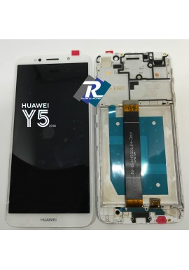 TOUCH LCD DISPLAY Huawei Y5 2018 DRA-L01 L02 L22 L23 BIANCO + FRAME
