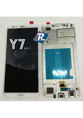 TOUCH LCD DISPLAY Huawei Y7 2018 LDN-L01 LDN-L21 BIANCO + FRAME