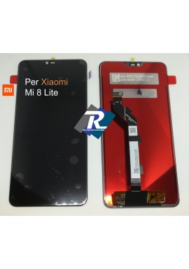 TOUCH SCREEN VETRO LCD DISPLAY PER XIAOMI Mi 8 LITE M1808D2TG NERO No Frame