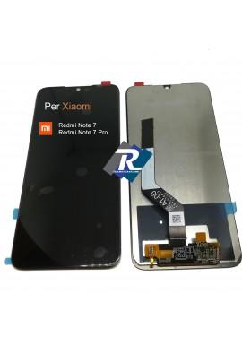 TOUCH SCREEN VETRO LCD DISPLAY per XIAOMI Redmi NOTE 7 - 7 PRO M1901F7 Nero