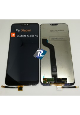 TOUCH SCREEN VETRO LCD DISPLAY PER XIAOMI MI A2 LITE Redmi 6 Pro NERO NO FRAME
