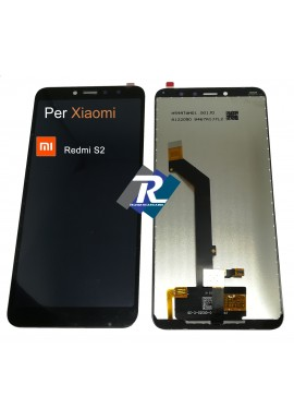 TOUCH SCREEN VETRO LCD DISPLAY PER XIAOMI REDMI S2 NERO M1803E6G No Frame