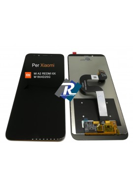 TOUCH SCREEN VETRO LCD DISPLAY PER XIAOMI MI A2 REDMI 6X M1804D2SG NERO NO FRAME
