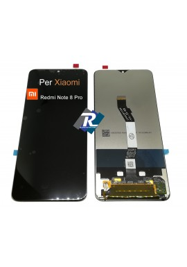 TOUCH SCREEN VETRO LCD DISPLAY PER XIAOMI REDMI NOTE 8 PRO NERO NO FRAME