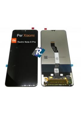 TOUCH SCREEN VETRO LCD DISPLAY PER XIAOMI REDMI NOTE 8 PRO NERO NO FRAME