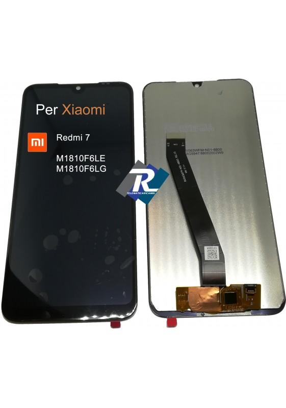 TOUCH SCREEN VETRO LCD DISPLAY PER XIAOMI REDMI 7 M1810F6LE M1810F6LG NERO