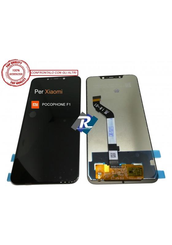 TOUCH SCREEN VETRO LCD DISPLAY PER XIAOMI REDMI POCOPHONE F1 NERO