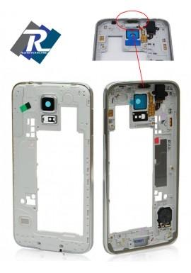 Middle frame scocca centrale telaio con cornice Samsung Galaxy S5 G900F Silver