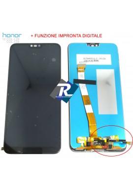 TOUCH LCD DISPLAY HUAWEI Honor 10 COL-L29 L09 Nero + FINGERPRINT Impronta Digitale