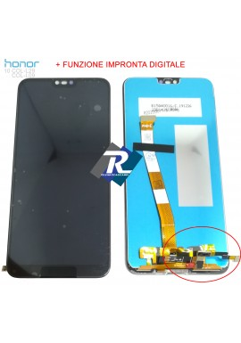 TOUCH LCD DISPLAY HUAWEI Honor 10 COL-L29 L09 Nero + FINGERPRINT Impronta Digitale