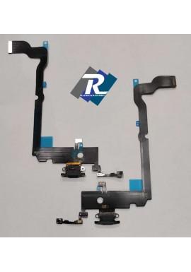 Flex Flat Dock Connettore Ricarica Microfono Dati iPhone XS Max Nero