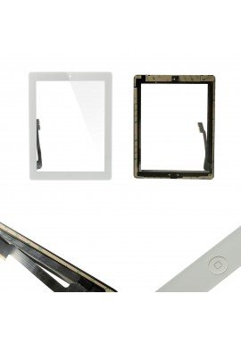 TOUCH SCREEN vetro per Apple iPad 3 Bianco A1416 A1430 A1403 Tasto home adesivi