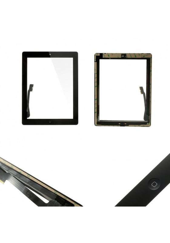 TOUCH SCREEN vetro per Apple iPad 3 Nero A1416 A1430 A1403 + Tasto home adesivi