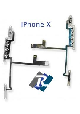 FLEX FLAT TASTI VOLUME APPLE IPHONE X SWITCH TASTO SILENZIOSO MUTO VIBRAZIONE