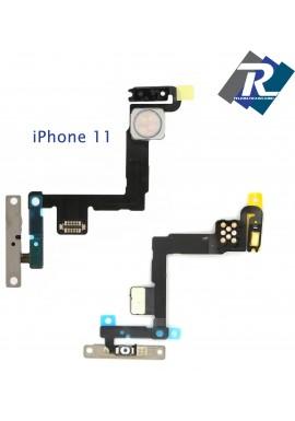 FLEX FLAT TASTO ON OFF ACCENSIONE POWER APPLE IPHONE 11 FLASH MICROFONO