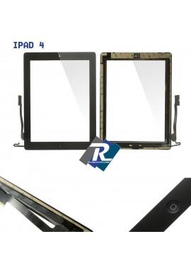 TOUCH SCREEN vetro per Apple iPad 4 Nero A1458 A1459 A1460 + Tasto home adesivi