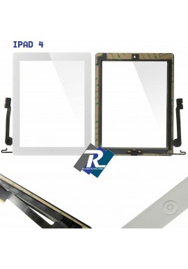 TOUCH SCREEN vetro per Apple iPad 4 Bianco A1458 A1459 A1460 Tasto home adesivi