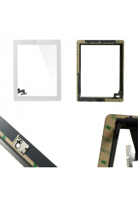 TOUCH SCREEN SCHERMO per Apple iPad 2 bianco Wi-Fi + 3G MOD. A1395 A1396 A1397
