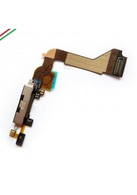 FLEX FLAT CONNETTORE DI RICARICA PER APPLE IPHONE 4 4G NERO