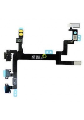 CAVO FLAT FLEX TASTO ON OFF PULSANTI LATERALI MUTE ACCENSIONE PER IPHONE 5