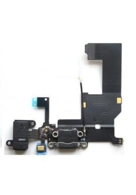 Flex Flat Dock Connettore Ricarica Microfono Antenna Jack Cuffie iPhone 5 Nero