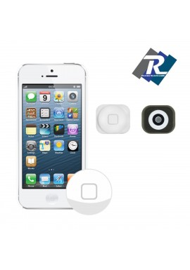 TASTO HOME PULSANTE CENTRALE TASTINO BUTTON KEY PER IPHONE 5 5G BIANCO