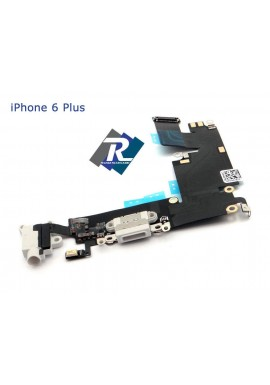 Flex Flat Dock Connettore Ricarica microfono Cuffie dati IPHONE 6 plus Bianco