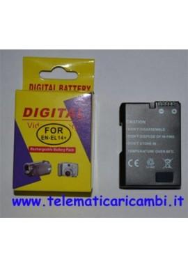 Batteria EN-EL14+ 7,4 volt 1050 mAh - Nikon D3100 D3200 D5100 - Nuova -