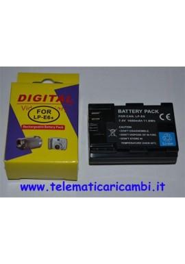Batteria LP-E6+ 7,4 volt 1600 mAh - Canon 5D MKII - 7D/ 60D - Nuova -
