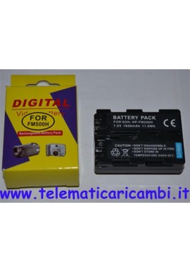 Batteria NP-FM500H 7,2 volt 1650 mAh SONY A57 A55 A900 A850 A100 A350 - Nuova -