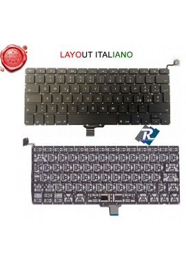 "TASTIERA Italiana per Apple Macbook Pro 13"" Unibody Aluminum A1278 2009 A 2013"