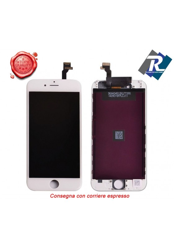 Display LCD Retina Touch Screen Vetro Schermo Apple iPhone 6 G Bianco + attrezzi