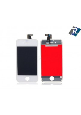 TOUCH SCREEN VETRO SCHERMO + LCD DISPLAY RETINA + FRAME IPHONE 4 BIANCO