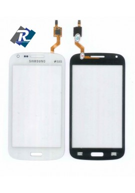 TOUCH SCREEN VETRO SAMSUNG GALAXY CORE GT-i8260 i8262 duos BIANCO + Biadesivo