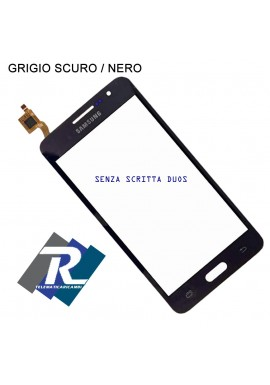 TOUCH SCREEN VETRO SAMSUNG GALAXY GRAND PRIME SM-G531 G531F G531FZ NERO GRIGIO SCURO