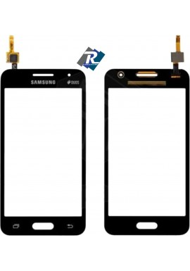TOUCH SCREEN VETRO SAMSUNG GALAXY CORE 2 SM-G355HN G355 DUOS NERO BIADESIVO