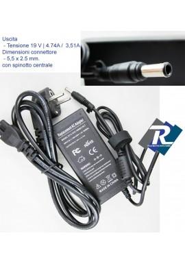 Alimentatore Caricabatteria ASUS 19V 4,74A 90W per Notebook X53S