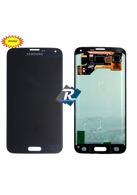 DISPLAY LCD SCHERMO AMOLED TOUCH SCREEN PER SAMSUNG GALAXY S5 G900F NERO