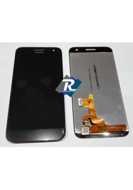 TOUCH SCREEN VETRO COMPLETO DI LCD DISPLAY Per Huawei Ascend G7-L01 Nero