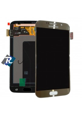 DISPLAY LCD SCHERMO TOUCH SCREEN ORIGINALE PER SAMSUNG GALAXY S6 G920F GOLD ORO